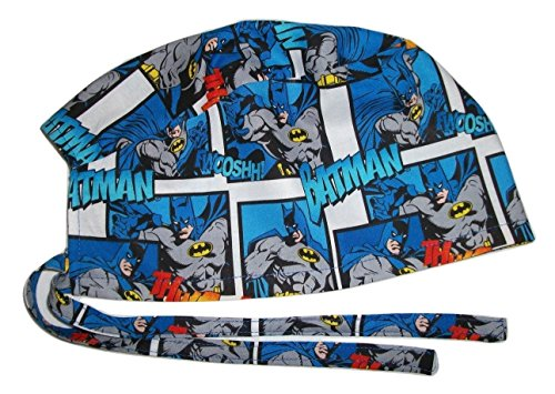Scrub Hat Batman Comic Book Cotton Fabric Nurse Cap Doctor Do-Rag Skull -