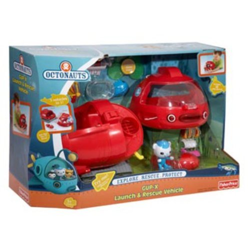 Octonauts Gup-X launch rescue vehicle 4 slime disks stretcher and transport tank by MegaDeal by SpyCamPro (Image #1)