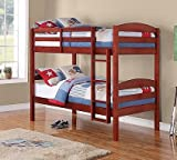Cheap Mainstays Twin Over Twin Wood Bunk Bed, Cherry