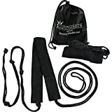 Sunnydaze Tree-Friendly Hammock Hanging Tree Straps Kit Carrying Bag, Outdoor Heavy Duty Camping Accessory, Black