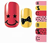 1-Pcs Cool Popular Hots Nail Art Wraps Stickers Self Adhesive Pedicure Designs Flowers Foil Fashion Pattern NO.08