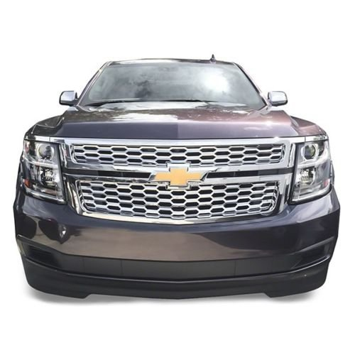 Chrome Grill Kit - DeluxeAuto Chrome Grille Overlay (2 Pieces Kit) is compatible with 2015 2016 2017 2018 2019 Chevy Tahoe Suburban LS/LT