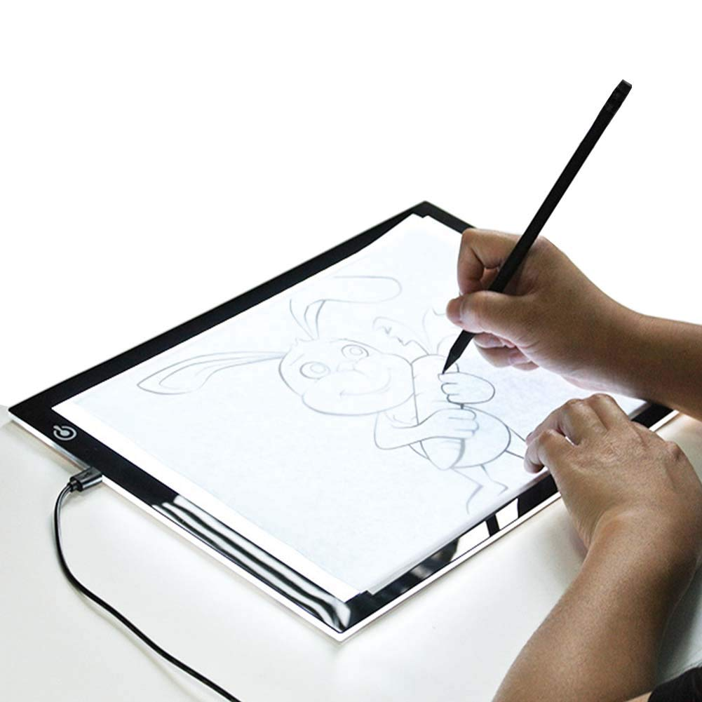Copy Board A4 LED Drawing Light Box, Super Thin LED Drawing Copy Light Box,Light with Brightness Adjustable,Sketch Architecture Calligraphy Crafts for Artists,Kids Drawing Copy Painting