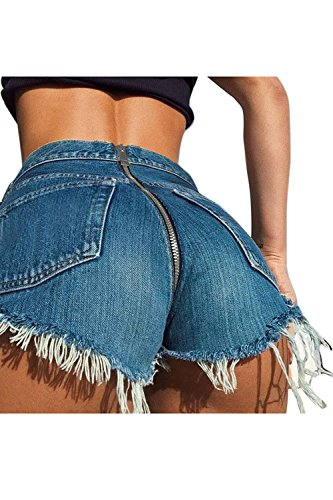 Le Blue Su Jeans Alta Donne Corti Pantaloni I Tira Vita Si rnqrwCZv