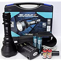 Olight M2X-UT Javelot 1020 Lumens CREE XM-L2 LED Flashlight 810m Long Throw Distance Search Light with Two 3400mAh 18650 Batteries and Charger Kit