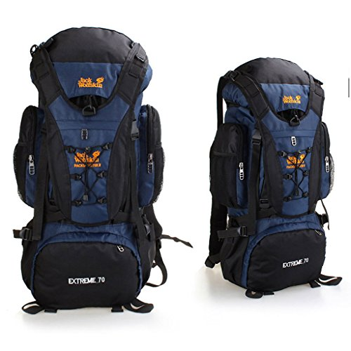 A prueba de agua bolsa de deporte al aire libre del alpinismo grandes de acero bolsa de senderismo mochila bandolera hombres y mujeres de montar negro