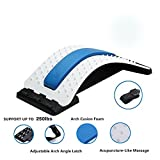 Lumbar Stretcher- Lower and Upper Back Pain Relief, Lumbar Back Stretching Device, Self Massager Posture Improve by ChiFit,(Blue)