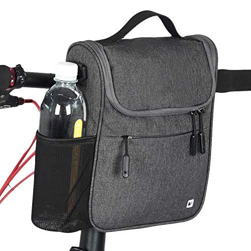 RAYSUN Bicycle Handlebar Bag with Waterproof Cover - Messenger Bag with Handle Fits 10