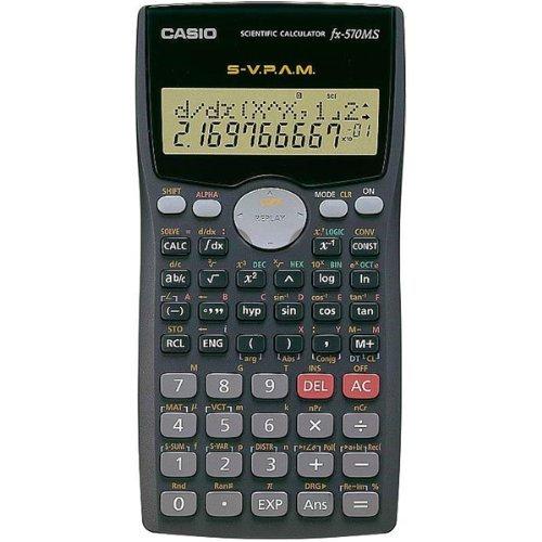 Casio #FX-570MS 2-Line Display Scientific Marix Vector Calculations Calculator