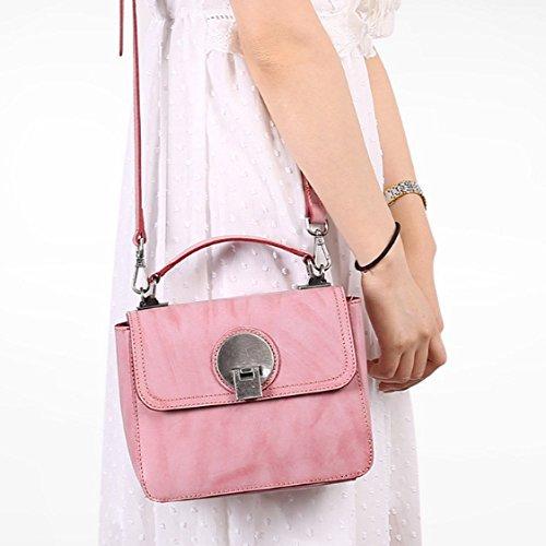 À Mini Petit Femmes Sac Cuir Rose Rétro Pink Diagonale Sac Portefeuille à Violet Sacs Véritable en Bandoulière Main Mode WKNBEU IxtqnZvq