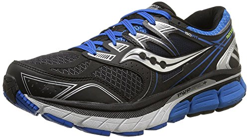 Saucony Mens Redeemer ISO Road Running Shoe, nero/blu, 42.5 2E EU/8 2E UK