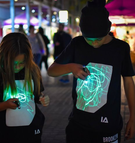 Interactive Glow In The Dark T-shirt Black | Illuminated Apparel