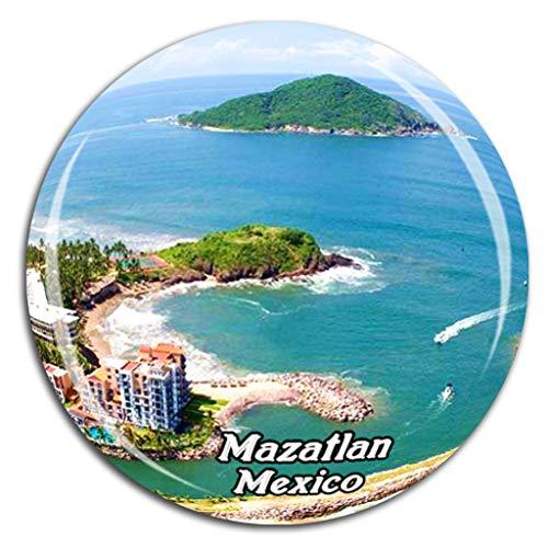 Mazatlan Mexico Fridge Magnet 3D Crystal Glass Tourist City Travel Souvenir Collection Gift Strong Refrigerator Sticker