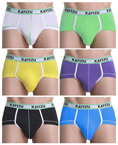 Men's Underwear,KAYIZU Brand Classics Comfort Soft Sexy Brief X-Large (6-Pack)