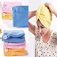 Orson Hair Towel Wrap Absorbent Towel Hair-Drying Quick Dry Shower Caps Bathrobe Magic Hair Warp Towel Super Quick-Drying Microfiber Bath Towel Hair Dry Cap Salon Towel(1)