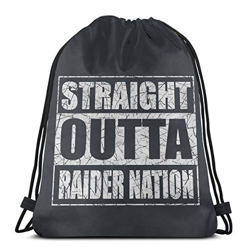 - Adam B George8 Unisex Straight Outta Raider Nation Training Long Lasting Drawstring Bag Backpack