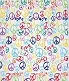 Saturday Knight Limited Peace Sign PEVA Shower Curtain