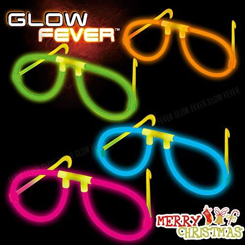 Glow Sticks Bulk 20ct Glow Eyeglasses - Light Sticks(Multi) for Party, Festivals, Raves, Birthday