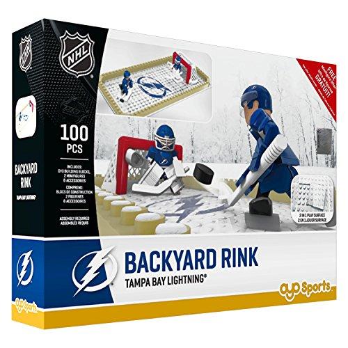 OYO NHL Tampa Bay Lightning Backyard Rink Set, Small, Black
