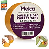 Melca Double Sided Gripper Tape - Rug / Carpet - 2.5 Inch (20 Yards)