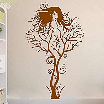 jiuyaomai Lady Creative Tatuajes de Pared Árbol Pegatinas de Pared ...