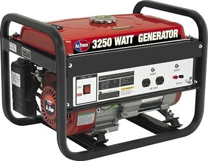 amazon com all power america apg3012 2500 running watts 3250 rh amazon com All Power Generator Regulator Parts Generator Installation Diagram