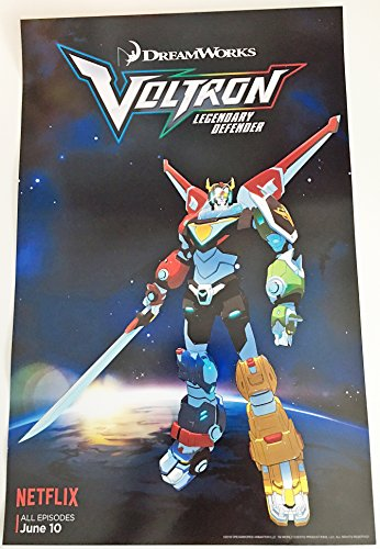 Voltron Original Promo TV Poster Sdcc 2016 Dreamworks Netflix