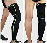 1 Pair Leg Compression Socks Calf Compression Sleeve Over the Knee Brace Support for Men & Women, Medical Graduated Athletic Footless Stockings 20-30mmHg for Pain Relief Shin Splints, XL Size, Black.