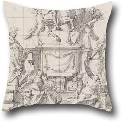 Amazon Co Jp Oil Painting Baldassare De Caro Design For A Monument To Emperor Charles Vi Of Naples Pillow Covers 18 X 18 Inches 45 By 45 Cm Gift Or Decor For
