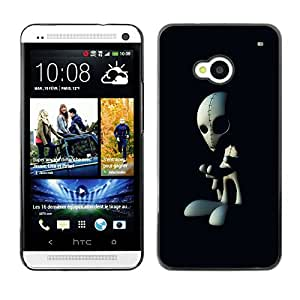- Skull Devil Diablo Extraterrestrial - - Fashion Dream Catcher Design Hard Plastic Protective Case Cover FOR HTC One M7 Retro Candy