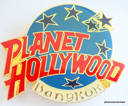 Bangkok Pin (Bangkok Thailand Planet Hollywood City Classic Light Blue Globe Logo Pin)
