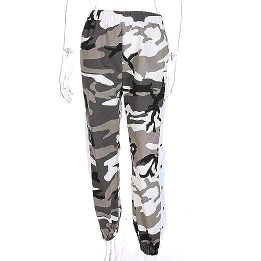Pantalones de chándal Pantalón de carga de talle alto para mujer ...