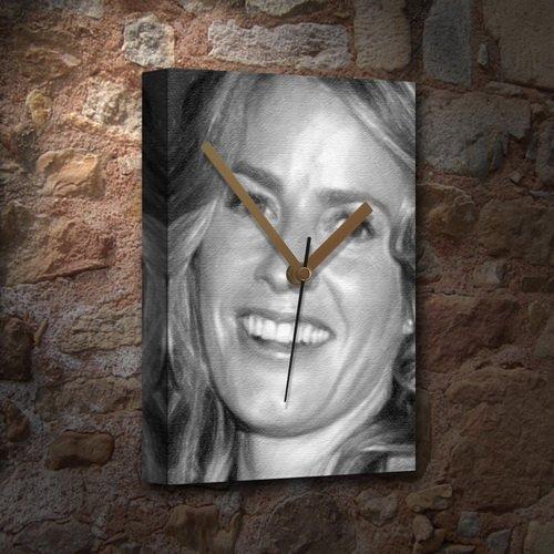 Seasons Elisabeth Shue - Canvas Clock (A5 - Signed by The Artist) #js004