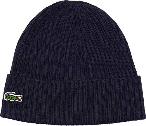 Lacoste Men's Small Croc Ribbed Knit Beanie