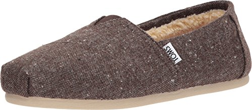 Womens Brown Tweed - TOMS Men's Seasonal Classics Chocolate Brown Speckled Tweed/Faux Shearling 11 D US