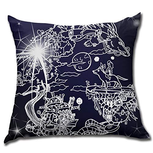 (MichaelMLiddle Fashion Rest Home Decor Studio Ghibli Sofa Cushion Covers 18