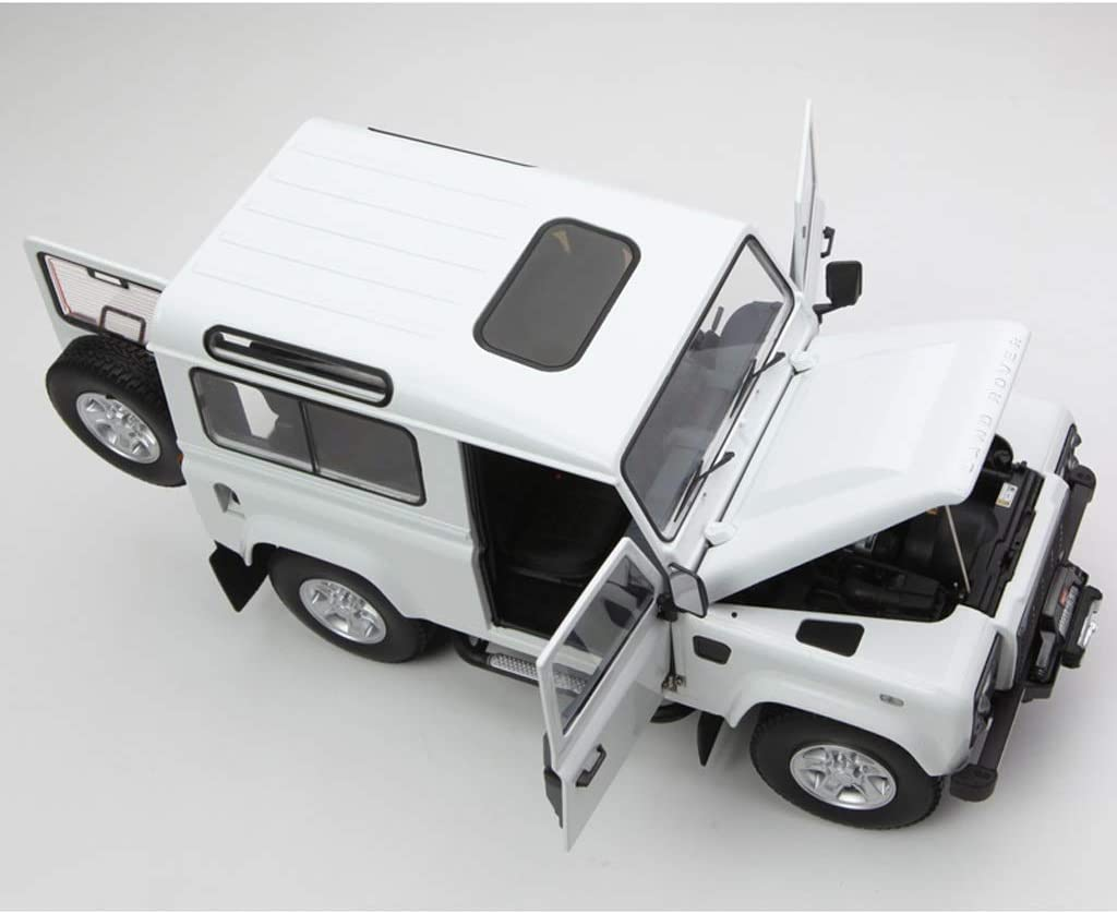 GAOQUN-TOY Land Rover SUV Modelo 1: 18 Guardian 90 Defender Color : Blanco, Tama/ño : 22cm*8cm*9cm edici/ón de Eje Corto Puerta Doble