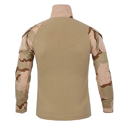 Bestow Tácticos para Hombres Camuflaje Musculoso de Manga Larga Blusa sólida básica Camiseta Top Abrigo Sudadera Abrigo de: Amazon.es: Ropa y accesorios