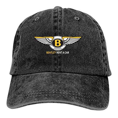 BEKAI Unisex Cowboy Cap | Bentley Motors Car Logo Adjustable Baseball Sport/Sun/Trucker/Dad Peaked Hat Snapback Cap Black