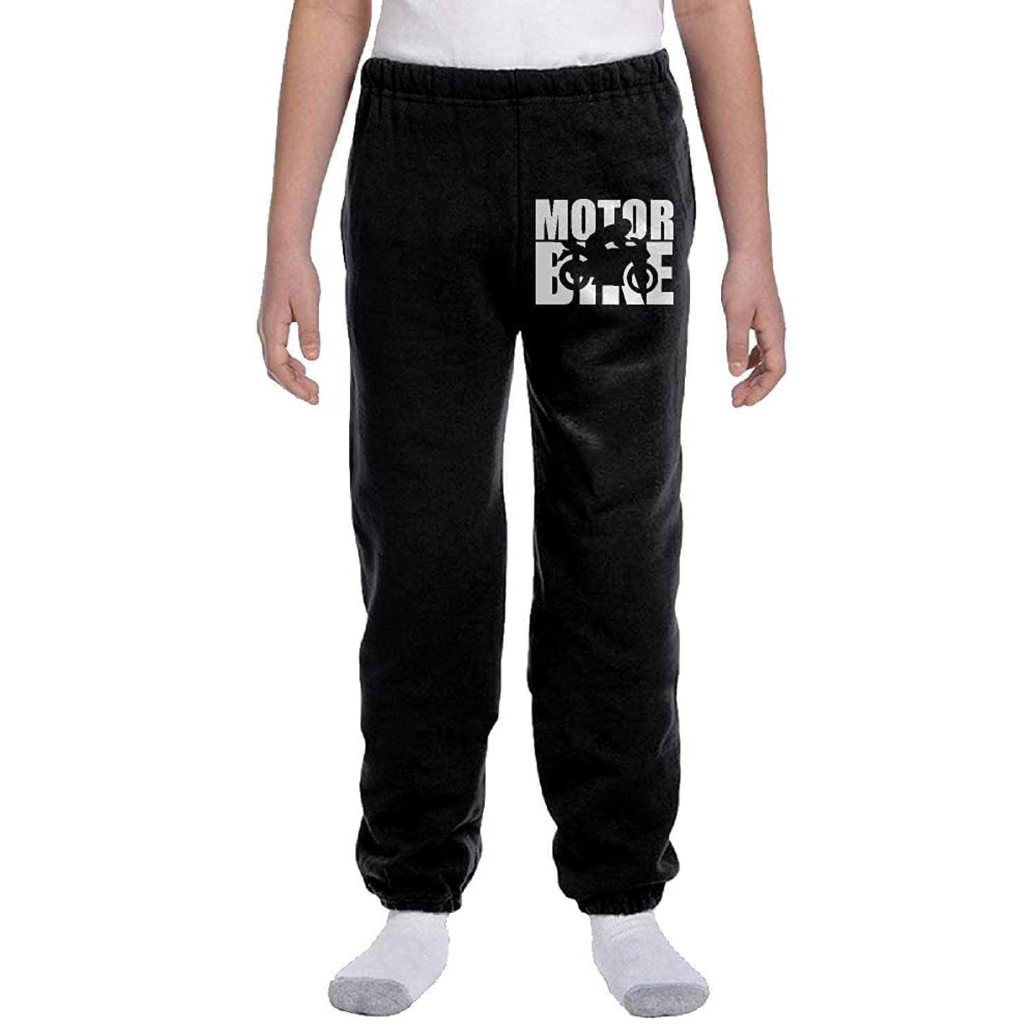 hot sell Teenager Boys Soft/Cozy Sweatpants Motorbike Word with Cutout Silhouette-1 Active Pants on sale