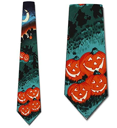 Halloween Necktie - Pumpkin Patch Neck Ties Halloween Mens Neckties