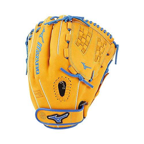 (Mizuno MVP Prime SE Fastpitch GMVP1200PSEF6 Infield Model Gloves, Cork/Royal, 12
