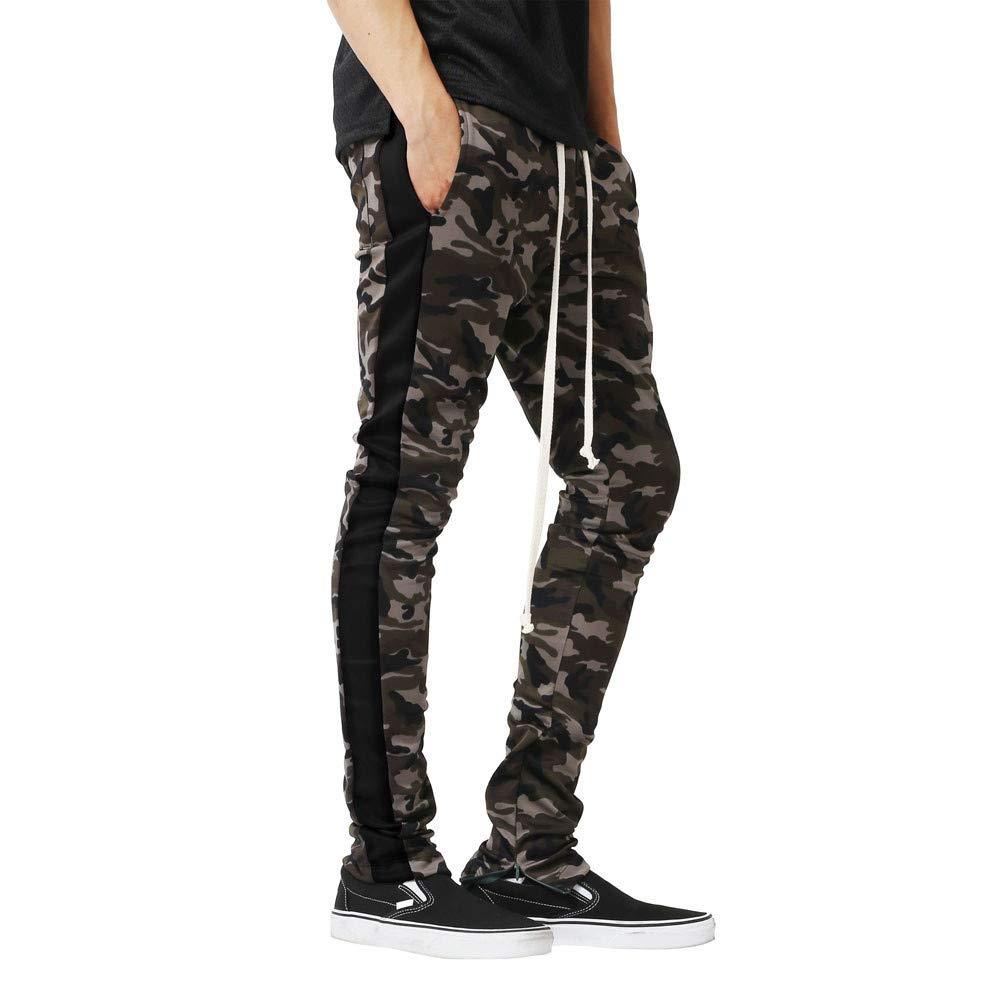 iYBUIA Men Camouflage Pants Colorful Pocket Sport Work Trouser