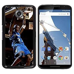 Timberwolve 2 Baloncesto - Metal de aluminio y de plástico duro Caja del teléfono - Negro - NEXUS 6 / X / Moto X Pro