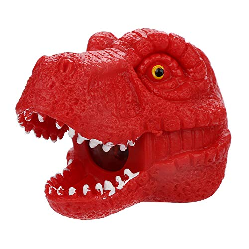 Wffo Spongy Bead Rainbow Ball Toy Squeeze Squishies Toy, Stress Relief Dinosaur Toy (Red) -