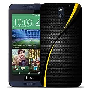 Case Mate móvil HTC DESIRE 610 en carcasa rígida y lápiz capacitivo - amarillo diseño enmarañado
