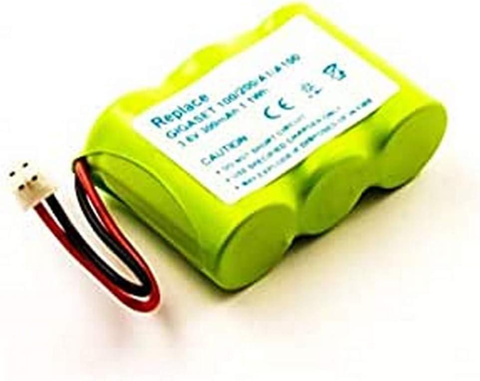 Batería para Siemens Gigaset 100, 200, A1, A100, NiMH, 3,6 V, 300 mAh: Amazon.es: Electrónica
