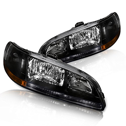 (Instyleparts Honda Accord Clear Lens Headlights with Black)
