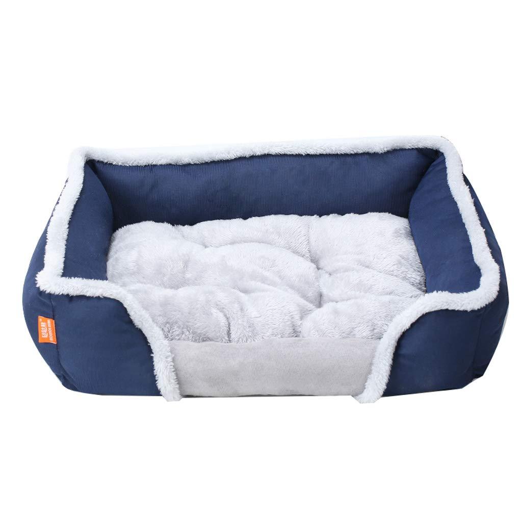 暖かいX ケンネル、大型、中型、小型犬、ペット用品、快適さ、冬、暖かい、滑り止め、ペットネスト、キャッテリー、(REd、Blue、Brown) (色 : REd, サイズ さいず : Xl:90*65*18cm) B07NV3XLXF 青 M:65*55*13cm M:65*55*13cm|青