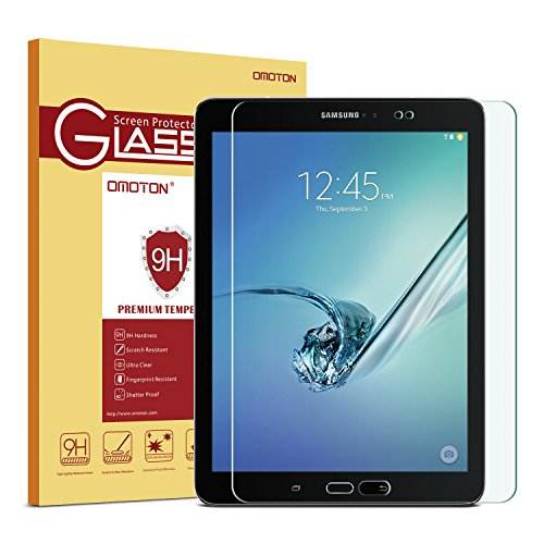 Samsung Galaxy Tab S2 8.0 Glass Screen Protector, OMOTON Tempered-Glass Protector with [9H Hardness] [Crystal Clear] [Scratch-Resistant] [No-Bubble Installation], For Wi-Fi Version SM-T710/T713 ONLY